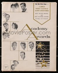 8h003 ACADEMY AWARDS PORTFOLIO 9x11 print set 1962 Volpe art of all Best Actor & Actress winners!