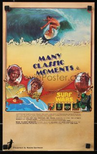 8j056 MANY CLASSIC MOMENTS Aust special poster 1978 surfing, wacky Surf Wars cartoon as well!