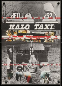 8j080 HALO TAXI Czech 11x16 1984 completely different and wild Milan Grygar art design!