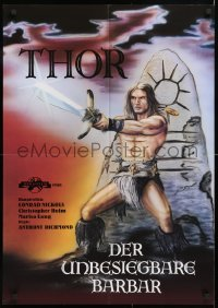 8j023 THOR THE CONQUEROR German 1983 Conan rip-off, cool different sword & sorcery art!