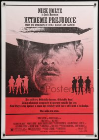 8j027 EXTREME PREJUDICE Lebanese 1986 cool close-up of cowboy Nick Nolte, Walter Hill directed!