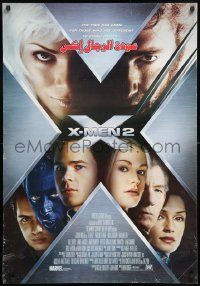 8j011 X-MEN 2 Middle Eastern poster 2003 great images of Hugh Jackman, sexy Anna Paquin & cast!