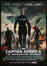 8j012 CAPTAIN AMERICA: THE WINTER SOLDIER advance DS South American 2014 Evans, Johansson, Redford, Jackson!