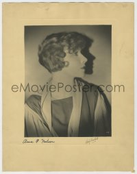 8p072 ANNA Q. NILSSON signed 11x14 still 1920s portrait also signed by photographer Henry Freulich!