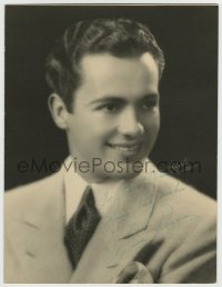 8p075 CHARLES BUDDY ROGERS signed deluxe 10x13 still 1930s great head & shoulders smiling portrait!