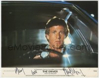 8p077 DRIVER signed color 11x14 still #5 1978 by Ryan O'Neal, close up driving car, Walter Hill!
