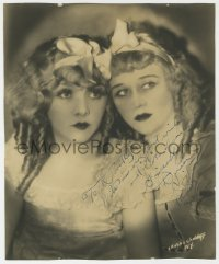 8p078 DUNCAN SISTERS signed deluxe 10x12 still 1927 by Rosetta AND Vivian, photo by Chidnoff!