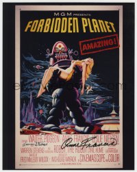 8p080 FORBIDDEN PLANET signed color 11x14 REPRO 1956 by BOTH Anne Francis AND Warren Stevens!