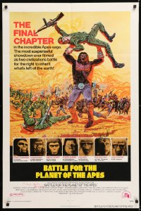 8p002 BATTLE FOR THE PLANET OF THE APES signed 1sh 1973 by BOTH Paul Williams AND Roddy McDowall!