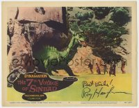 8p030 7th VOYAGE OF SINBAD signed LC #8 1958 by Ray Harryhausen, special effects scene with dragon!
