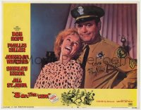 8p031 8 ON THE LAM signed LC #6 1967 by Phyllis Diller, who's laughing with cop Jonathan Winters!