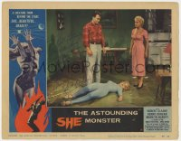 8p033 ASTOUNDING SHE MONSTER signed LC #7 1958 by Robert Clarke, who's standing over the sexy alien!