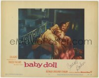 8p034 BABY DOLL signed LC #6 1957 by troubled teen Carroll Baker, who's laying with Eli Wallach!