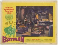 8p035 BATMAN signed LC #1 1966 by Adam West, who's with Burt Ward & the Penguin in Bat Cave!