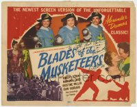 8p018 BLADES OF THE MUSKETEERS signed TC 1953 by Robert Clarke, who plays D'Artagnan!