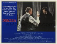 8p043 DRACULA signed LC 1979 by Frank Langella, who's shown mirror by Laurence Olivier!