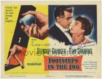 8p022 FOOTSTEPS IN THE FOG signed TC 1955 by Jean Simmons, was Granger there to kiss or kill her!