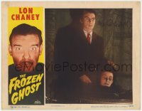 8p047 FROZEN GHOST signed LC R1954 by Martin Kosleck with severed head, Lon Chaney Jr. in border!