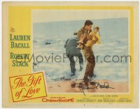 8p048 GIFT OF LOVE signed LC #2 1958 by Robert Stack, who's carrying little girl on the beach!