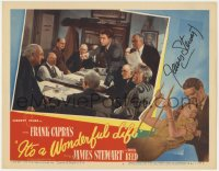 8p050 IT'S A WONDERFUL LIFE signed LC #7 1946 by James Stewart, who's accusing Lionel Barrymore!