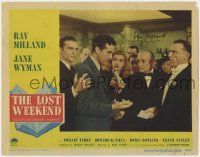 8p051 LOST WEEKEND signed LC #1 1945 by Ray Milland, who's drunk at party, directed by Billy Wilder!