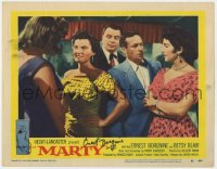8p054 MARTY signed LC #2 1955 by Ernest Borgnine, who's a wallflower at the dance, Paddy Chayefsky!