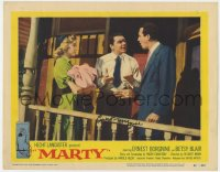 8p055 MARTY signed LC #5 1955 by Ernest Borgnine, who's visiting his sister & brother-in-law!