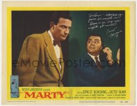 8p056 MARTY signed LC #7 1955 by Ernest Borgnine, who's talking on phone & staring at Joe Mantell!