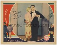 8p057 NAUGHTY BABY signed LC 1928 by Benny Rubin, who's close up in tuxedo with sexy Alice White