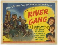 8p025 RIVER GANG signed TC 1945 by Gloria Jean, how they crack the river racketeers, cool art!