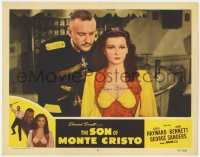 8p061 SON OF MONTE CRISTO signed LC #4 R1947 by Joan Bennett, who's close up with George Sanders!