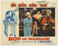 8p062 SON OF PALEFACE signed LC #3 1952 by Bob Hope, Jane Russell AND Roy Rogers!