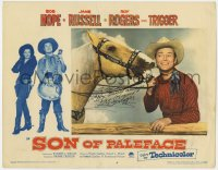 8p063 SON OF PALEFACE signed LC #4 1952 by Roy Rogers, who also signed for Trigger, Happy Trails!