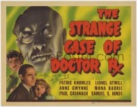 8p026 STRANGE CASE OF DOCTOR Rx signed TC 1942 by Patric Knowles, Universal horror, ultra rare!
