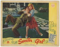 8p064 SWEATER GIRL signed LC 1942 by Eddie Bracken, who's grabbed by June Preisser!