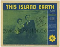 8p067 THIS ISLAND EARTH signed LC #3 R1964 by Rex Reason, who's in the water with Faith Domergue!
