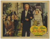 8p069 YOU CAN'T RUN AWAY FROM IT signed LC #2 1956 by June Allyson, who's with Bickford & Lemmon!