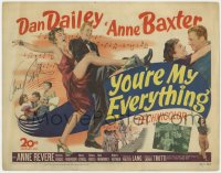 8p029 YOU'RE MY EVERYTHING signed TC 1949 by Anne Baxter, dancing & romancing with Dan Dailey!