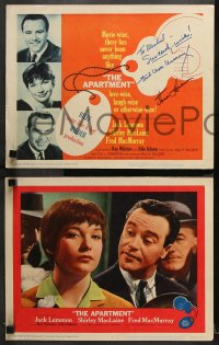 8p014 APARTMENT set of 8 LCs 1960 SEVEN signed by Jack Lemmon & TWO also signed by Fred MacMurray!