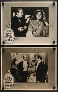 8r001 CAMILLE 2 Aust LCs R1950s completely different images of Greta Garbo, Taylor, Barrymore!