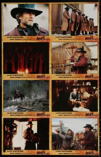 8r071 PALE RIDER #2 German LC poster 1985 completely different images of cowboy Clint Eastwood!