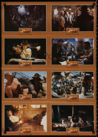 8r073 RAIDERS OF THE LOST ARK #2 German LC poster 1981 different images of Harrison Ford & Allen!