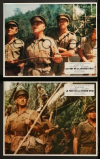 8r050 BRIDGE ON THE RIVER KWAI 8 style A French LCs R1970s William Holden, Alec Guinness, Lean!