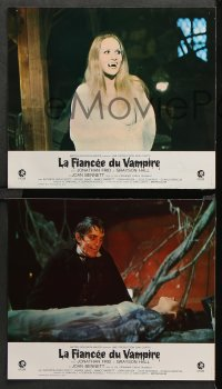 8r061 HOUSE OF DARK SHADOWS 12 French LCs 1970 different images of Frid as Barnabas Collins!