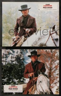 8r059 PALE RIDER 10 French LCs 1985 different images of cowboy Clint Eastwood, Michael Moriarty!