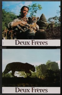 8r052 TWO BROTHERS 8 French LCs 2004 Jean-Jacques Annaud's Deux Freres, cool tigers!