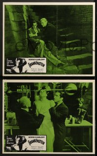 8r017 FRANKENSTEIN 3 Mexican LCs R1970s great different images of Boris Karloff as the monster!
