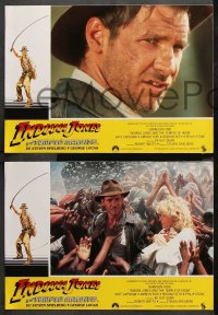 8r030 INDIANA JONES & THE TEMPLE OF DOOM 12 Spanish LCs 1984 adventure is his name, different!