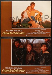 8r031 RIVER 12 Spanish LCs 1985 Mark Rydell directed, Mel Gibson, Sissy Spacek, different!