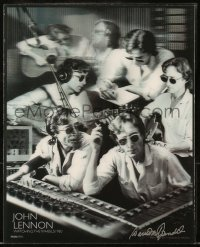 8s043 JOHN LENNON commercial lenticular 8x10 card 2010 studio montage, Watching the Wheels 1980!